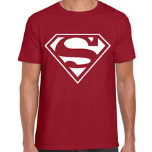 SUPERMAN CHEST LOGO PRINTED MENS TSHIRT COMIC BOOK SUPERHERO AMERICAN ACTION shubuzhi top tees(China)