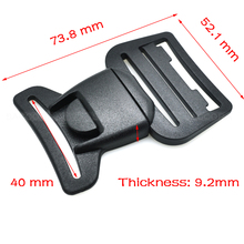 "2pcs/pack Pack 1-1/2""(40mm) Webbing Center Release Buckle Plastic for Hiking Camping Bags(China)"