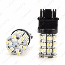 50PCS T20 T25 3157 60 SMD 1210 Chip White/Yellow Dual Color Switchback Turn Signal Car LED Light #CA1592