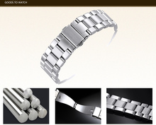 Fit mk Watch Band Sliver Stainless Steel Bracelet Buckle Strap Clip Adapter for mk watch strap model super quality(China)