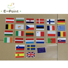 29 PCS/set All European countries flag Waterproof Reflective Stickers for Car Bicycle Laptop Trunk Face