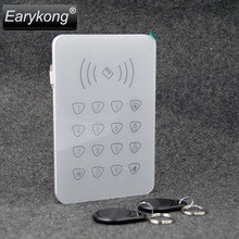 2017 Free Shipping 433MHz Wireless Touchscreen Keyboard with 2 pcs RFID Tags Reading Card Only For G90B Wifi GSM Alarm System