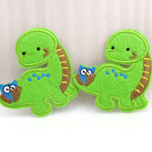 5Y45076  70*62mm dinosaur Embroidery patch printed polyester ribbon 5 pieces, DIY handmade materials, wedding gift wrap