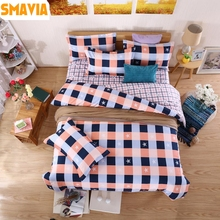 SMAVIA Dye Printing Cozy Bedding Sets Twin Double Queen King Size Duvet Cover Bed Sheets Pillowcase Home Hotel Bed Sets 3/4pc