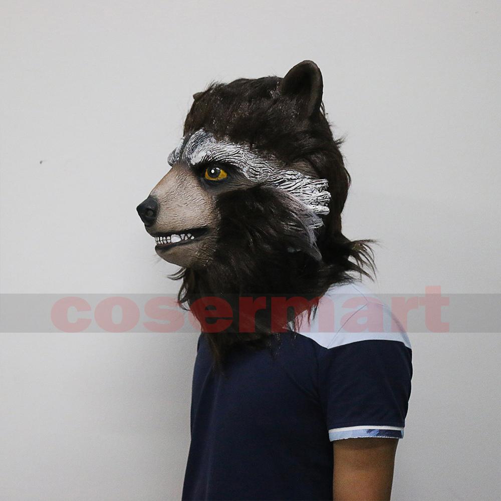 Guardians of the Galaxy 2 Rocket Raccoon Mask Marvel Movie Superhero Groot Peter Quill Helmet Cosplay Mask Halloween Party Prop (7)
