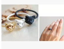 Timlee R072 New  Grace Fashion Cute Cat Head Finger Rings,Fashion Jewelry Wholesale
