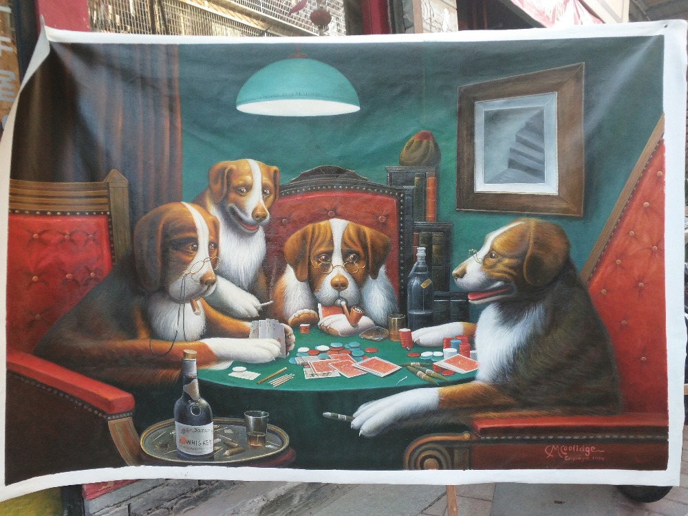 Dogs Playing Poker,1894