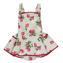 Princess Strawberry Romper Floral Jumpsuit Newborn Girls Baby Romper Tutu Dress Outfits