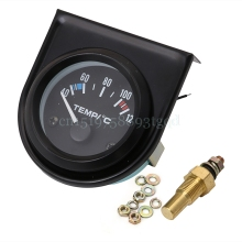 "2"" 52mm Car Auto Digital LED Water Temp Temperature Gauge Kit 40-120 Degrees Celsius Black#T518#(China)"