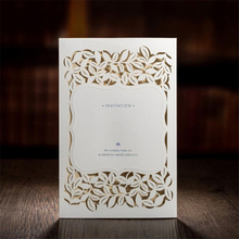 New Arrivals 50Pcs Casamento White Laser Cut Wedding Invitations China In Made Vintage Wedding Invitation Cards(China)