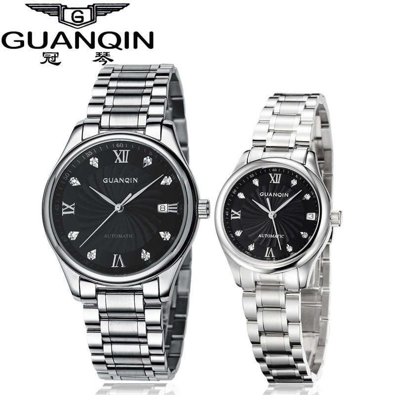 GUANQIN Luxury Lovers Watch Top Brand Women Men Watches Waterproof Sapphire Crystal 316L Stainless Steel Couple Watches 2 Pieces (3)