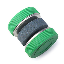 1Pc Mini Kitchen Knife Sharpener Stone Abrader Two Grinding Wheels Sharpening Tool Kitchen Accessories(China)