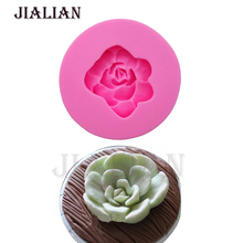 3D Flower silicone soap fondant candle molds sugar craft tools silicone baking moulds   decorating tools cake pop recipe T0795