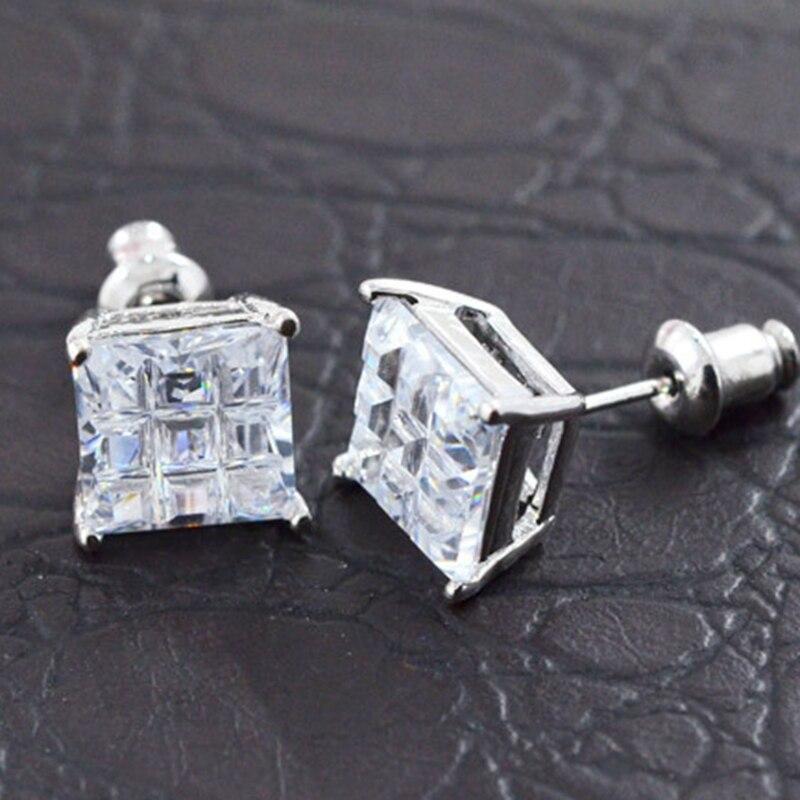 Stud earrings for men square