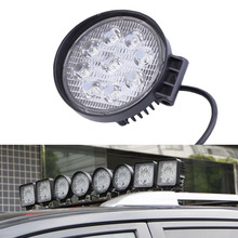 27W LED Work Light 60 Degree High Power LED Offroad Light Round Off road LED Work Light spot Light for Boating Hunting