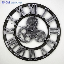 45CM Large Wall Clock Saat 3D Clock Reloj Duvar Saati Horloge Murale Digital Wall Clocks Orologio da parete Watch Home decor(China)