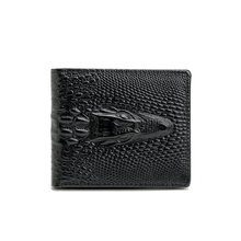 2017 Fashion Alligator Men's Wallets Leather Short Purse Exquisite craft Unique Design crocodile wallet free shipping(China)