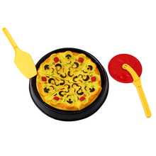 New Creative Kids Cutting Pizza Pie Funny Toys Fast Food Party Cooking Kitchen Early Education Children Joke Baby Toys JK893529(China)