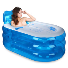 Water beauty thickening inflatable bathtub adult folding tub bath barrel plastic children FREE SHIPPING(China)