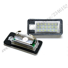 1set LED License plate Lamp for AUDI Q7 LED License plate Lamp for A3 Cabriolet 09~09 for A4/S4 B6 01~05 for A4/S4 B705~08/A6/C6