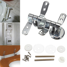 Alloy Replacement Toilet Seat Hinges Mountings Set Chrome with Fittings Screws For Toilet Accessories(China)