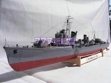 Paper model World War II Japanese Navy kagero class destroyer Yukikaze