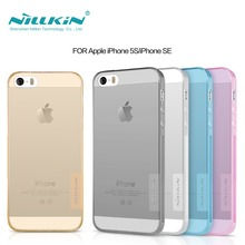 Original NILLKIN Ultra Thin Soft TPU for iphone 5s cover Transparent Crystal Clear Silicon case cover Bag Case for iphone 5s(China)