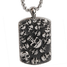 Punk Mexican Tattoo Stainless Steel Skull Pendants Necklace Charm Men Fashion Jewelry New Arrival Product
