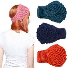 MISM 11 Patterns Girls Solid Knitted Headband High Quality Hair Accessories for Women Crochet Turban Head Wrap Stretch Headwear(China)