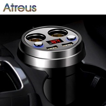 Atreus 3.1A Multi-function car charger Cigarette Lighter For BMW E60 Ford focus 2 Mazda 3 Volkswagen Polo Golf 4 Skoda octavia(China)