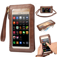 NEW Leather Case Touch Screen + Small Shoulder Crossbody Pouch + Wallet Bag for Samsung Galaxy Note 7 Case for iPhone 7 7plus