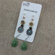 new fashionable woman ornament wholesale girl's birthday party beautiful 5 pair of ear nail earring gift agent cargo shipping(China)