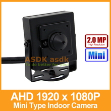 AHD Camera Mini Type HD 1920 x 1080P 2.0MP 3.7mm Lens Indoor Metal Security Camera CCTV Cam