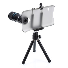 12X Optical Zoom Camera Telephoto Lens Phone Telescope + Tripod +Case Holder cover for samsung galaxy s5 SV i9600