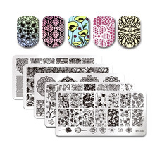 Buy BORN PRETTY 5PC Nail Art Stamping Plates DIY Nail Polish Print Template Manicure Nail Stamp Image Plate DIY Stamping Tools for $8.09 in AliExpress store