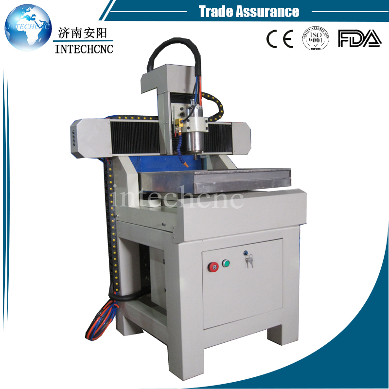 Heavy duty table moving 4040 table top cnc router/cnc leather cutting machine(China)