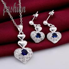 New Design silver plated Jewerly Set,Cheap Inlaid Stone Women's Jewelry Bridal Party sets Hot Sale SMTS772 rings(China)