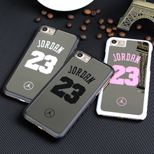 Fashion NBA Brand Michael Jordan 23 Cases For iPhone 7 Plus PC Hard Mirror Phone Cases Cover For iPhone Cover Fundas