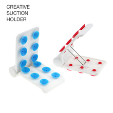 Conveniently Creative Suction Holder Attach To Smooth Flat Surfaces Mirrors Windows Counters and Desks Mobile Phone Tool