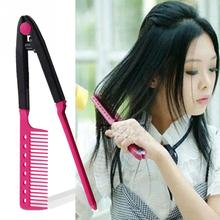 Good Quality Women Ladies Curly Hair/ Straight Hair Universal Makeup V Type Clip-On Style Hairdressing Comb(China)