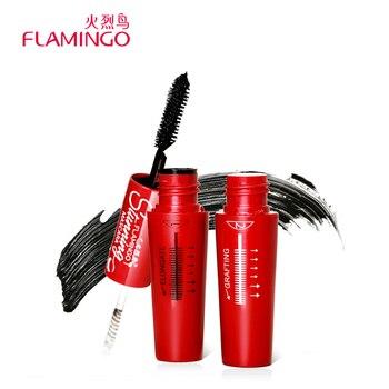 Livraison Gratuite Marque Flamingo Mascara Curling Allongement Facile à Enlever Double-clos Combinaison Multi-fonctionnelle Noir Mascara