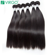 Brazilian Straight Hair Bundles Human Hair Weave Bundle 1 Pc Virgo Hair Company 100% Natural Remy Hair Extensions Last Longer(China)