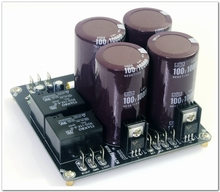 Assembly 4 * 10000uF Power Rectifier Filter Board With Speaker Protection Power Board +-55V Output Voltage