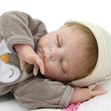Buy NPK Collection Realistic 22 Inch Sleeping Reborn Baby Dolls Soft Silicone Newborn Babies Boy Children Birthday Xmas Gift