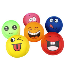 6pcs Colorful Secure Soft Cloth Ball Baby Kids Emoji Fun Scratching Ball Children Outdoor Activity Entertaiment Squeeze Ball