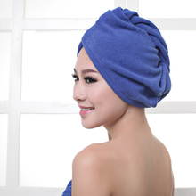 10 Colors Microfiber Hair Towel Bath Soft Towel Hair Hat Cap Quick Drying Lady Bath Blue Pink Tool For Women Female towel 60*25
