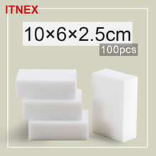 100pcs/lot 10*6*2.5cm Magic Sponge Melamine Sponge Eraser Pad Cleaner/durable Dish Washing Melamine Eraser Cleaning Sponge