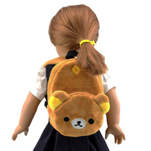 11color Yellow Cartoon Animal Doll Backpack Doll Accessories Fits American Girl Dolls and other 18 inch dolls