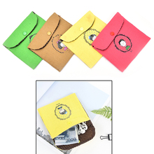 1Pc cotton fabric Women Sanitary Napkin Tampons Personal Holder Easy Bag Girls Organizer 13 X 13.5cm