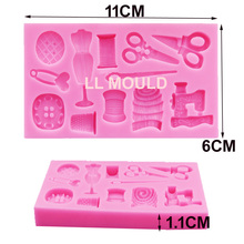M347 Scissors button Faucet Baby Shower shaped Silicon Mold Silicone Moulds for Cake Decorations 11*6*1.1CM